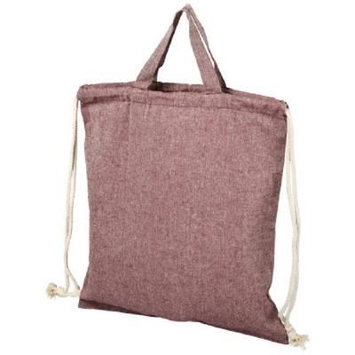 Pheebs Rucksack mit Kordelzug aus recycelter Baumwolle, 150 -rosa