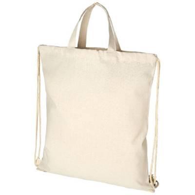Pheebs Rucksack mit Kordelzug aus recycelter Baumwolle, 210 -naturfarben