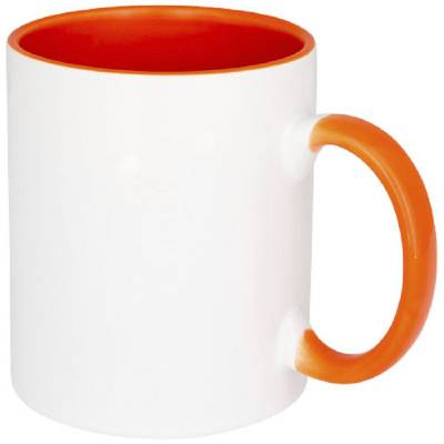 Pix bunter Sublimations-Pop-Becher-orange