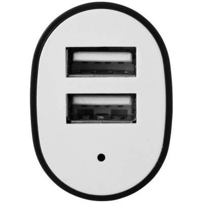 Pole Doppel-USB-Autoadapter-schwarz