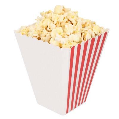 Popcornschale Hollywood, mit Streifen-weiß