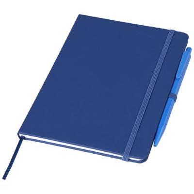 Prime mittelgroßes Notizbuch mit Stift-blau(royalblau)