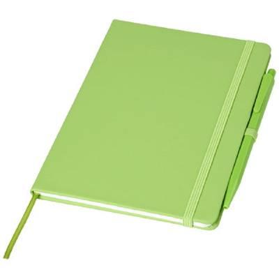 Prime mittelgroßes Notizbuch mit Stift-grün(limettgrün)