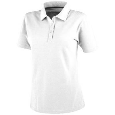 Primus Damen kurzarm Poloshirt-weiß-S
