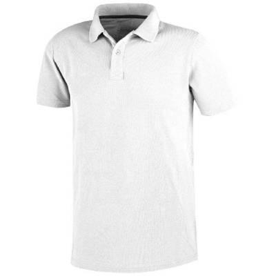 Primus kurzarm Poloshirt-weiß-L