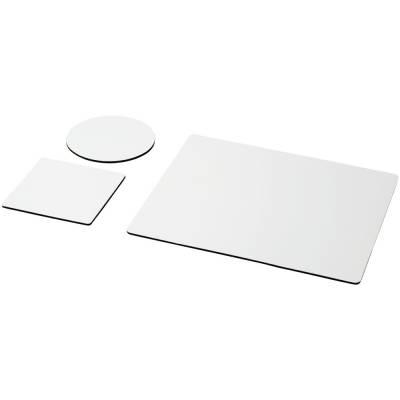 Q-Mat® Mauspad und Untersetzer-Set-schwarz