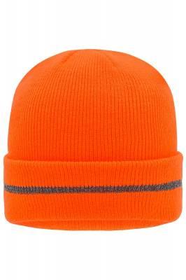 Reflective Beanie Safety-orange(neonorange)-one size-unisex