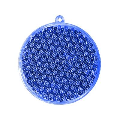 Reflektor Rund-blau(transparent)