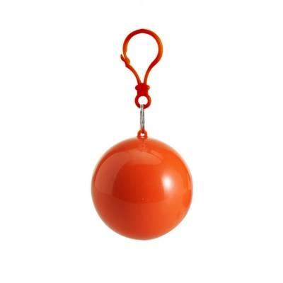 Regenponcho Regencape Bottrop in einer Kugel-orange-one size