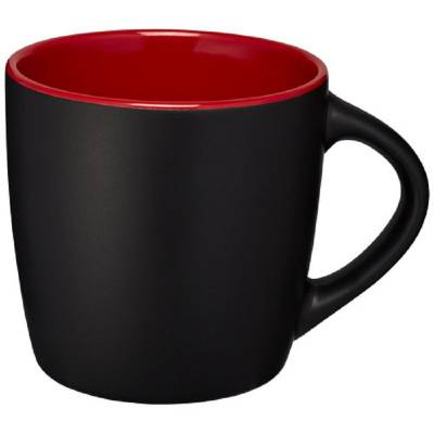 Riviera Keramiktasse-rot-schwarz