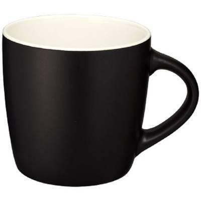 Riviera Keramiktasse-weiß-schwarz