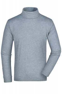 Rollneck Shirt JN183-grau(heathergrau)-XXXL