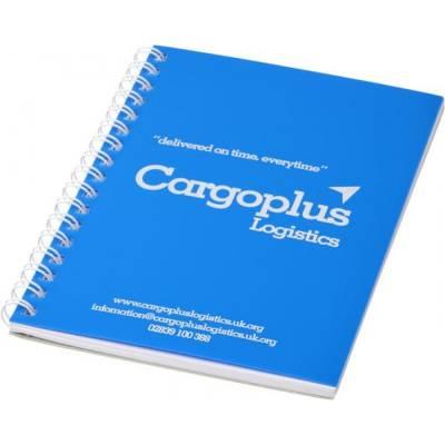 Rothko A5 Notizbuch mit Spiralbindung-blau-weiß-50 Blatt