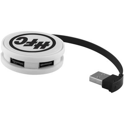 Round USB Hub-weiß-schwarz