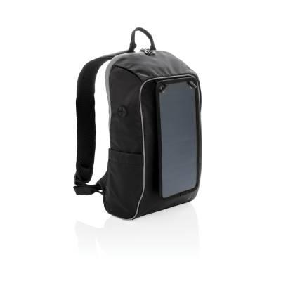 Rucksack Waren mit Solar-Panel, PVC frei-schwarz