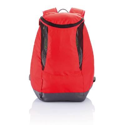 Rucksack mit Sportschuh-Fach PVC frei - rot