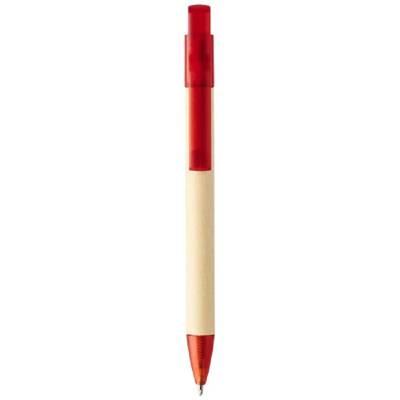 Safi Papierkugelschreiber-rot-blaue Mine