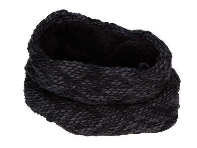 Schlauchschal mit flauschigem Highloft Fleece-Futter-schwarz