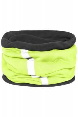 Schlauchtuch Safety mit reflektierendem Streifen-gelb-one si