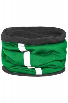 Schlauchtuch Safety mit reflektierendem Streifen-grün-one si