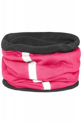 Schlauchtuch Safety mit reflektierendem Streifen-pink-one si
