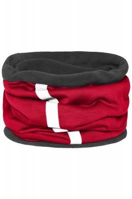 Schlauchtuch Safety mit reflektierendem Streifen-rot-one siz