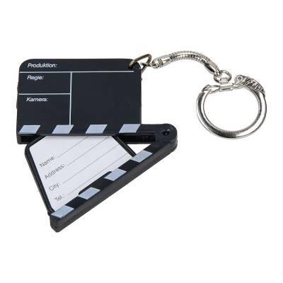 Schlüsselanhänger Adress-Filmklappe-schwarz