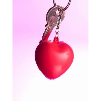 Schlüsselanhänger, Anti-Stress-Spielzeug Herz-rot