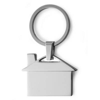 schl sselanh nger haus silber als werbeartikel mit logo bedrucken v2084 32. Black Bedroom Furniture Sets. Home Design Ideas