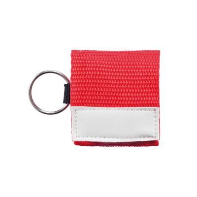 Schlüsselanhänger München mit Beatmungs-Maske - rot