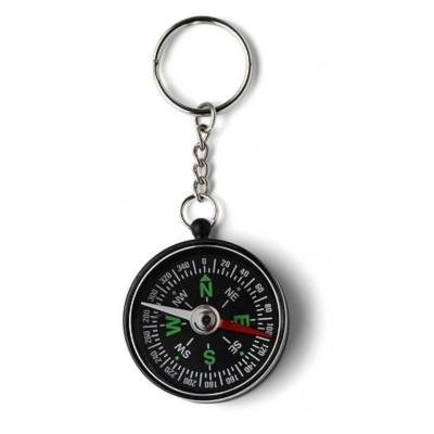 Schlüsselanhänger Essen mit Kompass-Eigenlager-schwarz