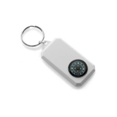 Schlüsselanhänger Sinsheim mit Kompass-weiß