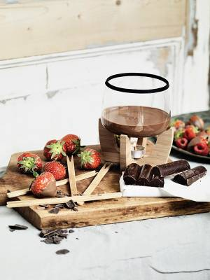 Schokoladenfondue Set Regensburg - schwarz