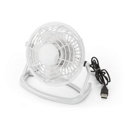 Schreibtisch-Ventilator Almere mit USB-weiß