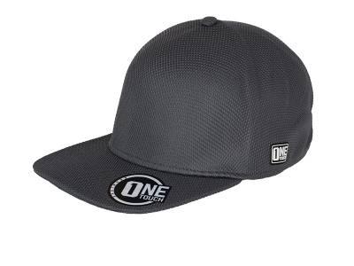 Seamless OneTouch Flat Peak Cap-MB6222-grau-one size