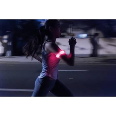 Sicherheitsband mit LED - weiß