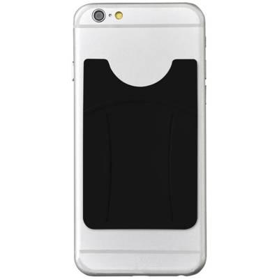 Silikon Telefon Geldbörse mit Finger Slot-schwarz