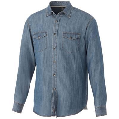 Elevate Sloan Herren Langarm Hemd in Jeansoptik