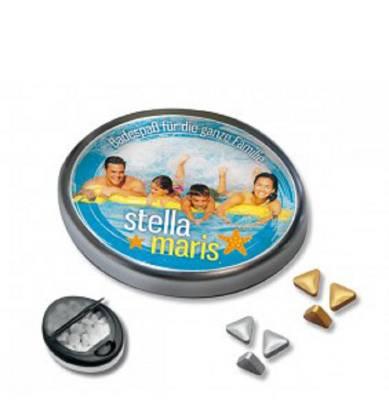 Snap-Master-Dose mit Pfefferminz-Gold- oder Silbernuggets