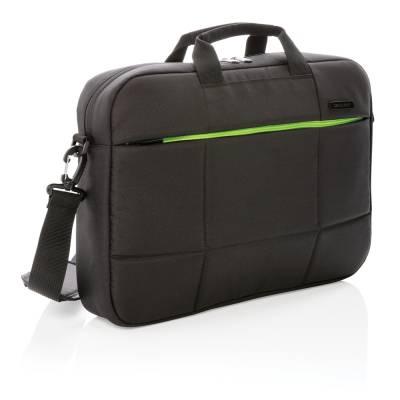 Soho 15.6 Zoll Business Laptop-Tasche aus RPET-schwarz