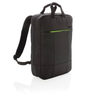 Soho Business RPET 15.6 Zoll Laptop-Rucksack PVC-frei-schwarz