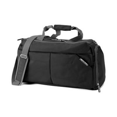 ee038512515c1 Sporttasche Ravenna mit Schuhfach-schwarz- als Werbeartikel mit Logo ...