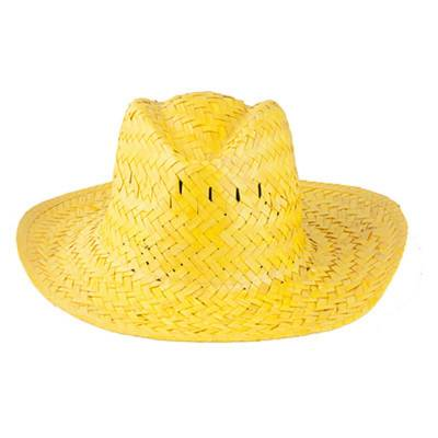 Strohhut Splash-gelb