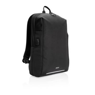 Swiss Peak RFID und USB Laptop-Rucksack-schwarz