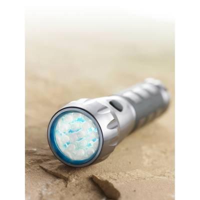 LED-Taschenlampe Stuttgart in Box-Eigenlager-silber