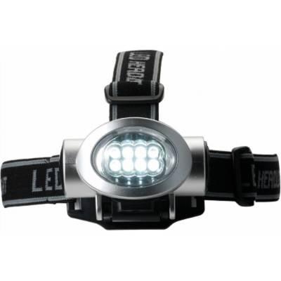 LED-Taschenlampe Wetzlar mit Kopfbefestigung-silber-Fremdlager