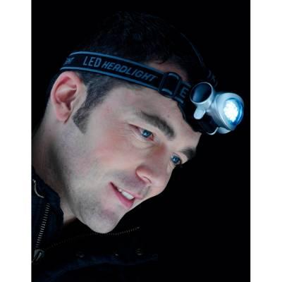 LED-Taschenlampe Wetzlar mit Kopfbefestigung-silber-Eigenlager