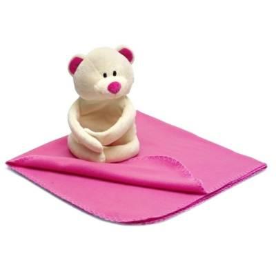Teddybär Harald mit Decke (75x75 cm)