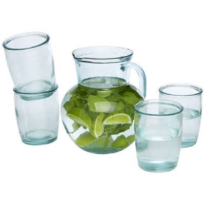 Terazza 5-teiliges Set aus recyceltem Glas