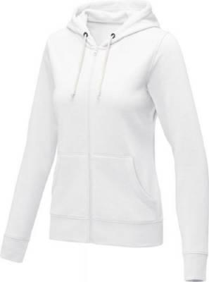Theron Hoodie mit Reißverschluss für Damen-weiß-XL